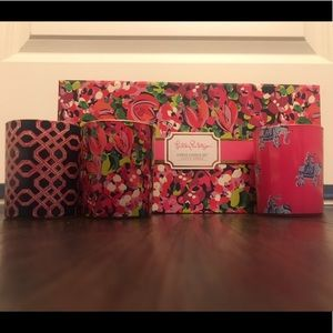 NWT Lily Pulitzer 3 Piece Candle Set
